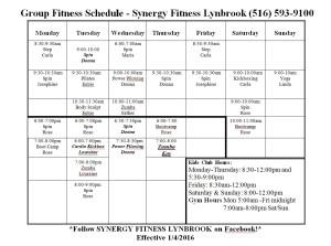 class schedule   (1)